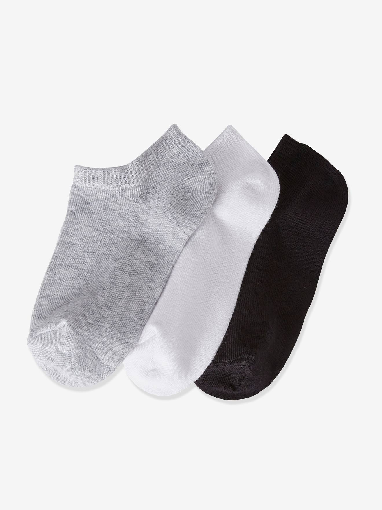 3 PAIRS GIRLS-LADIES BLACK  TURN OVER TOP ANKLE SOCKS