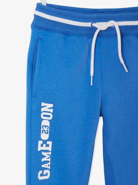 Fleece Joggers for Boys BLUE BRIGHT SOLID WITH DESIGN+BLUE DARK SOLID WITH DESIGN+GREY LIGHT MIXED COLOR+RED MEDIUM SOLID WITH DESIG - vertbaudet enfant