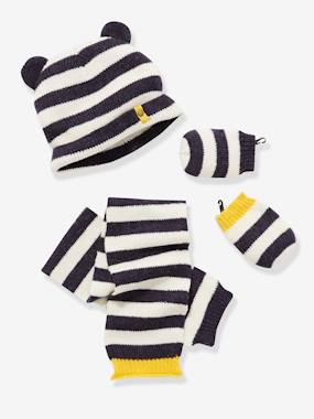 Outlet-Baby Boy's Hat + Scarf + Mittens set