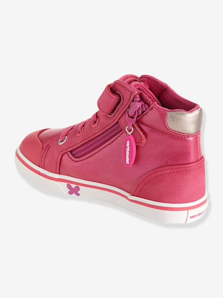 Girls High-Top Trainers, Designed For Autonomy Pink - vertbaudet enfant