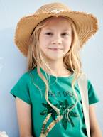 T-Shirt with Reversible Sequins for Girls, Palm Tree Motif  - vertbaudet enfant