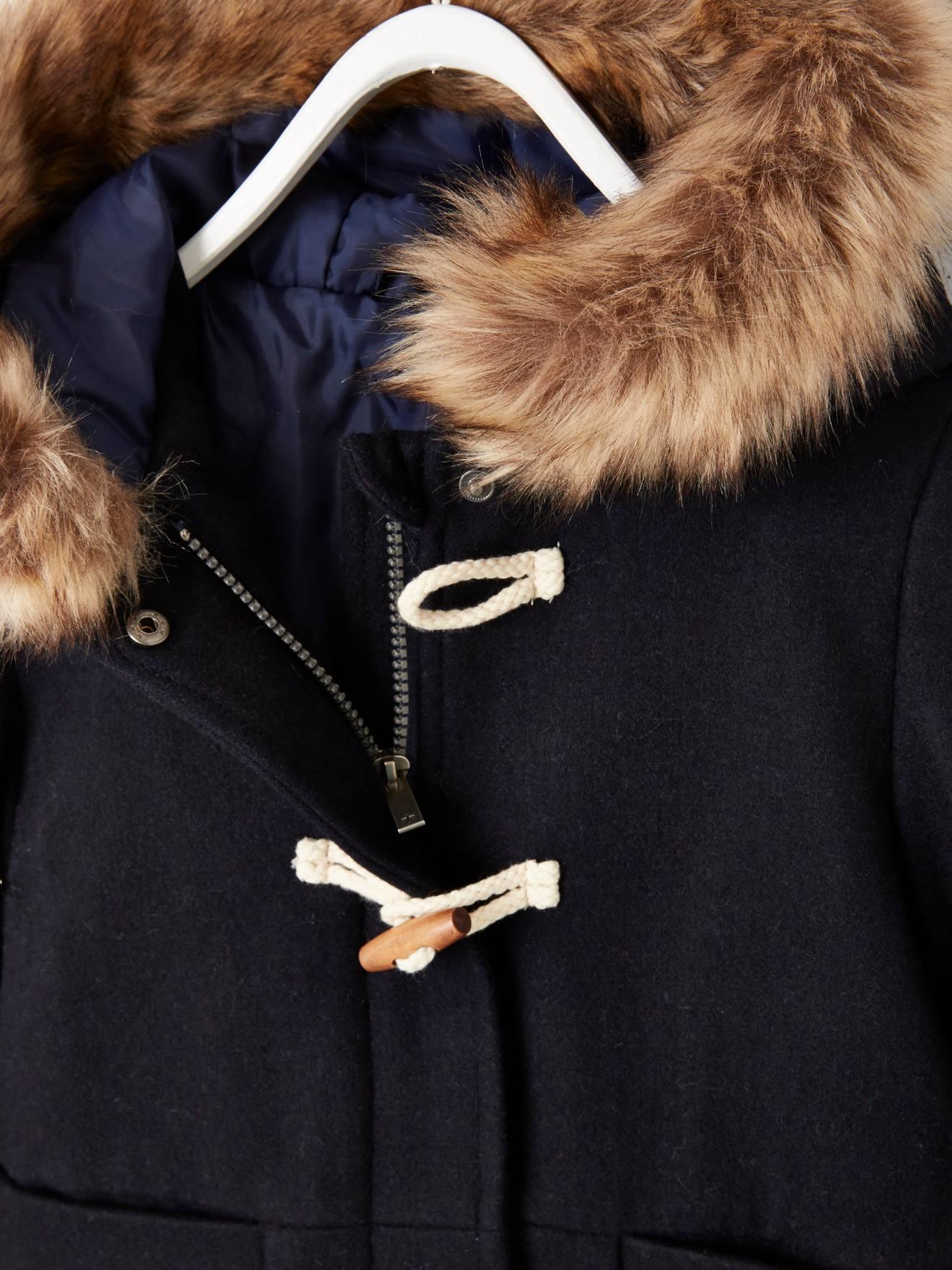 gef/üttert Wolle Vertbaudet Duffle-Coat f/ür Jungen Sherpa