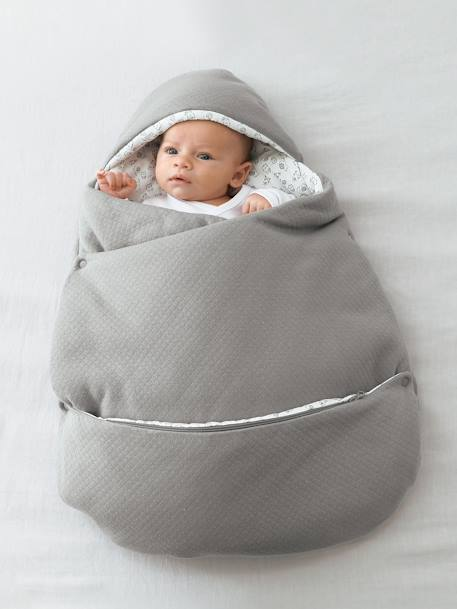 2-in-1 Adaptable Baby Nest Grey+Ink+PINK DARK SOLID - vertbaudet enfant