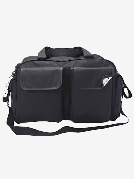 VERTBAUDET Week-end Changing Bag Black+GREY DARK SOLID - vertbaudet enfant