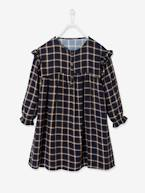 Chequered Dress with Frills, for Girls  - vertbaudet enfant