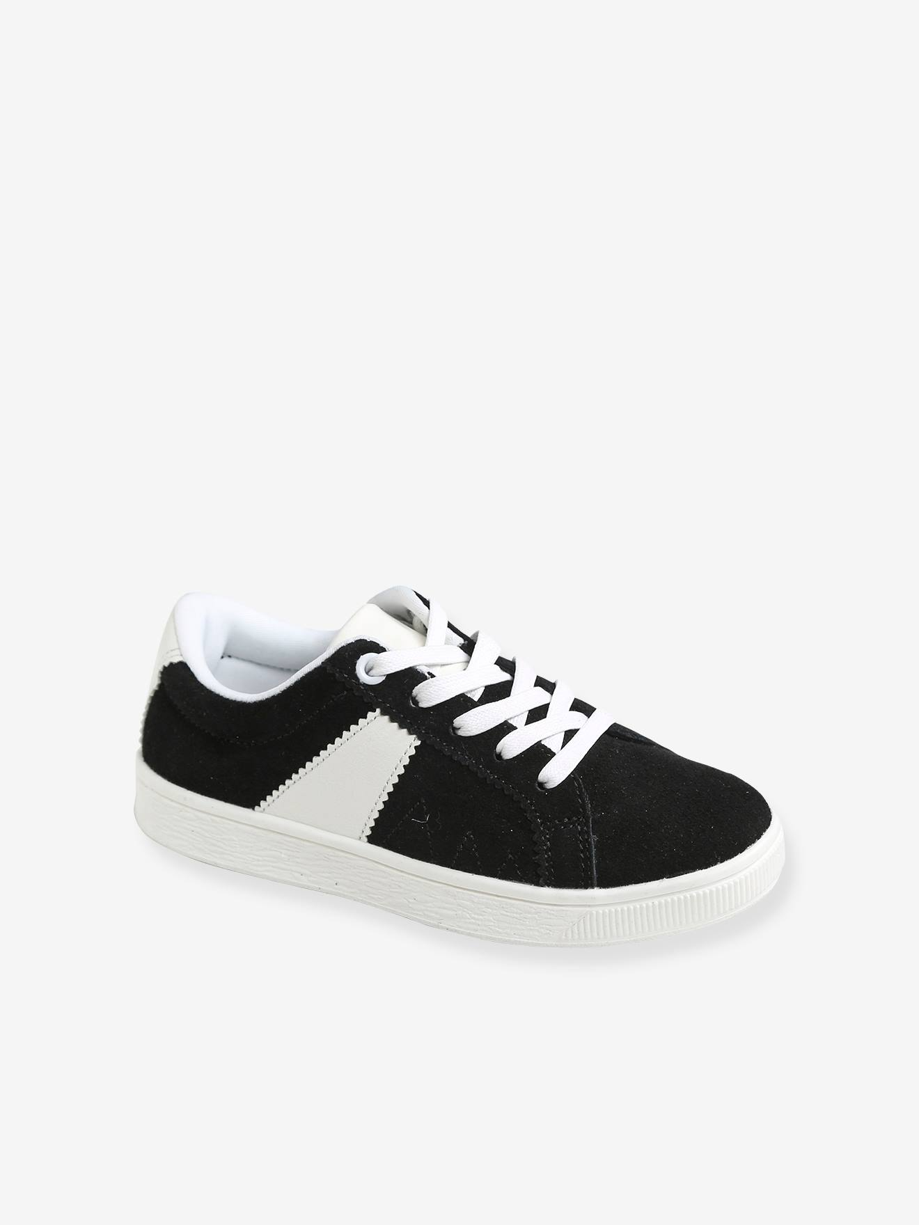 Coloured Split Leather Trainers for