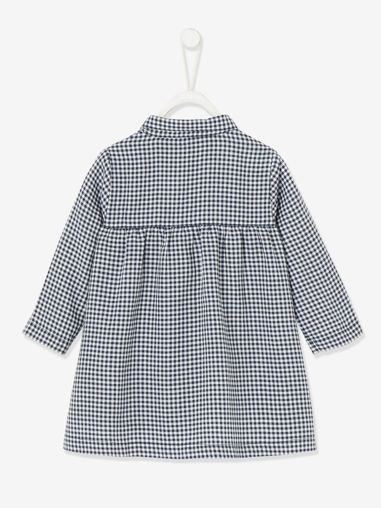 Robe Vichy Bebe Fille Carreaux Bleu Indio Bebe