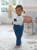 Dungarees in Denim for Baby Girls  - vertbaudet enfant