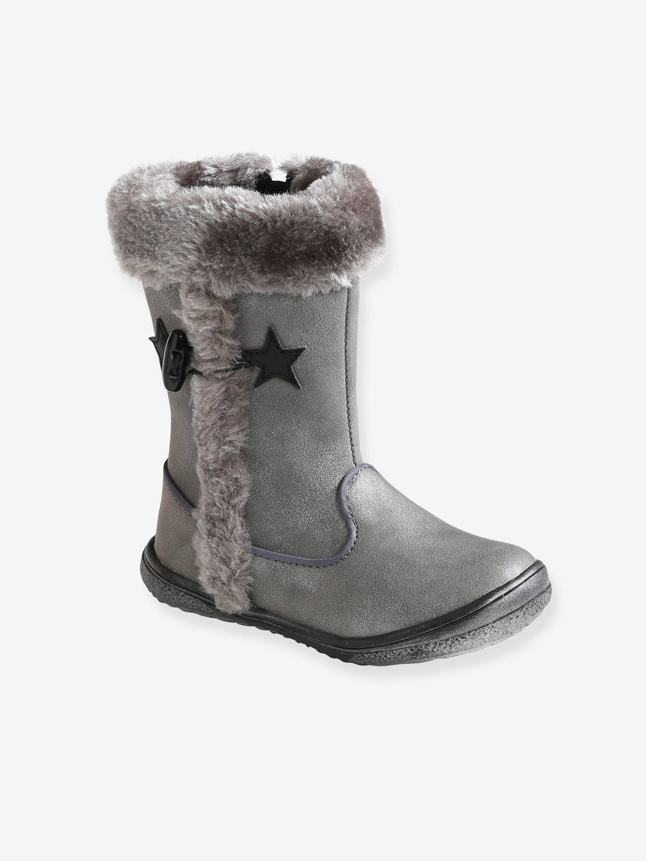 Boots with Faux Fur Details for Girls