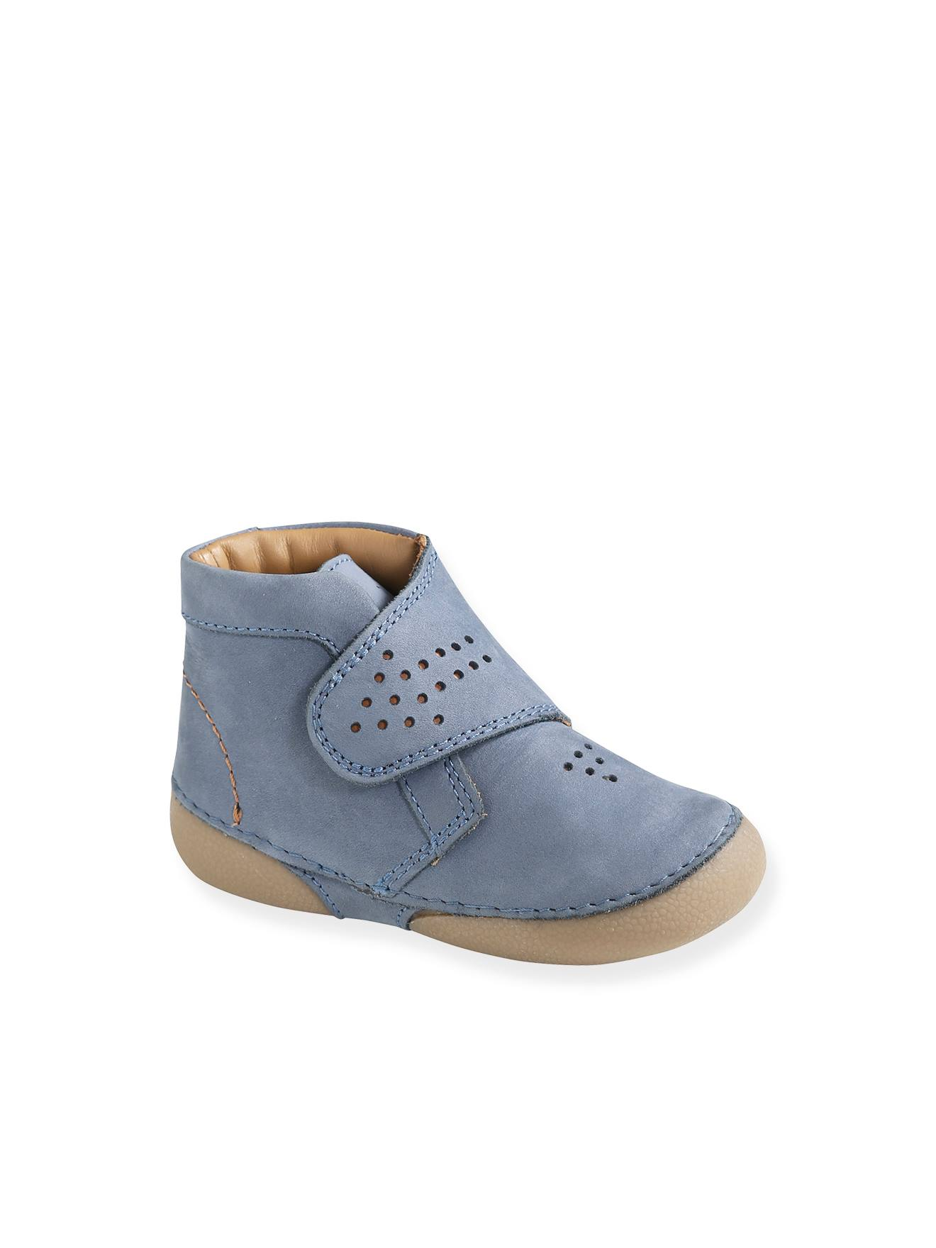 Soft Leather Ankle Boots for Baby Boys