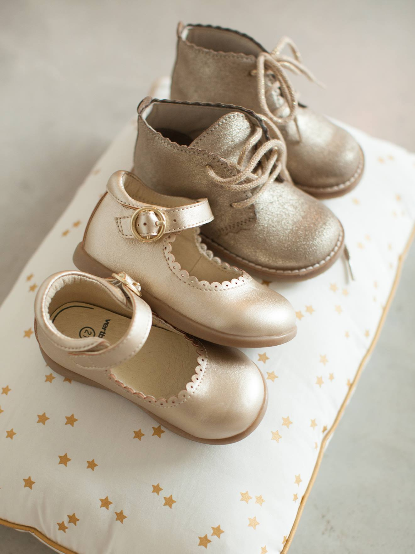 Leather Pram Boots with Laces, for Baby
