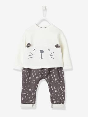 Baby-Outfits-Baby Fleece Sweatshirt & Harem-Style Trousers Outfit Set