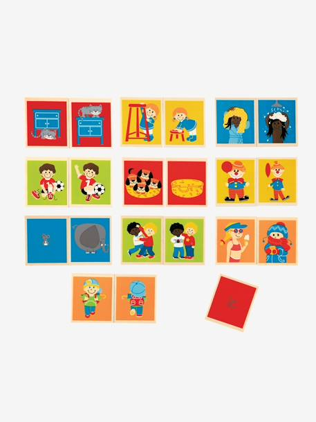 2-in-1 Memory and Opposites Game Muticolour - vertbaudet enfant