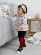 3-Piece Outfit: Top, Corduroy Shorts & Hairband  - vertbaudet enfant