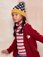 Happy Pop Cardigan with Badge for Girls  - vertbaudet enfant
