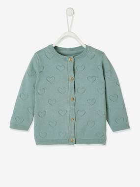 VERTBAUDET Quilted Cardigan for Baby Girls