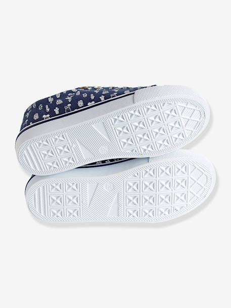 Canvas Trainers Denim blue+Printed navy - vertbaudet enfant