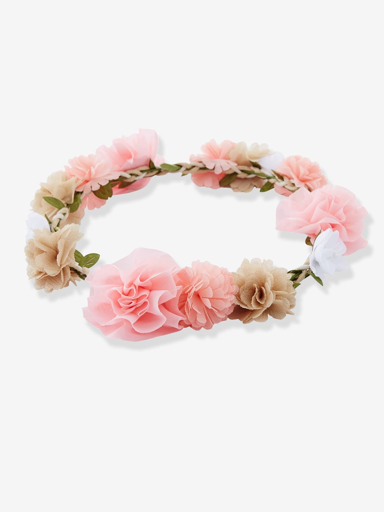 Girls Flower Crown Pale Pink Pink Grey Whit Girls