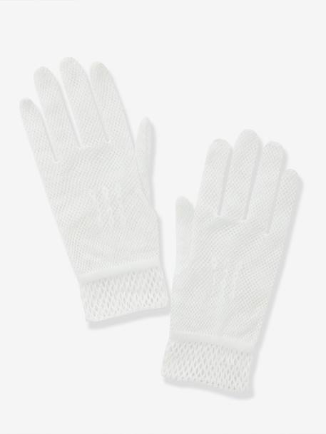 Girl's Gloves for Special Occasions Off-white - vertbaudet enfant