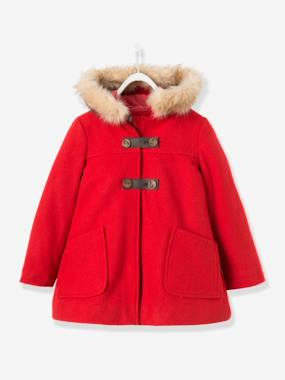 Coat & Jacket-Manteau fille en drap de laine