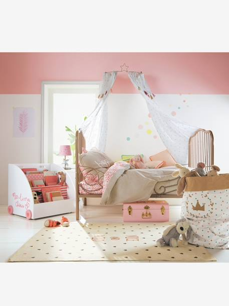 Diamond & Pompom Curtain Ecru - vertbaudet enfant