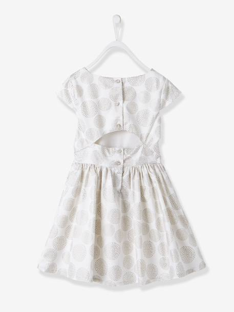 Girls' Polka Dot Occasion Dress Printed iridescent beige - vertbaudet enfant