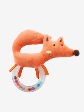 christmas-Plush Fox Rattle