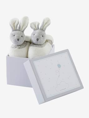 Toys-Cuddly Toys & Rattles-Bunny Slippers Gift Set