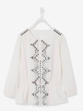 shirt-Girls Embroidered Tunic