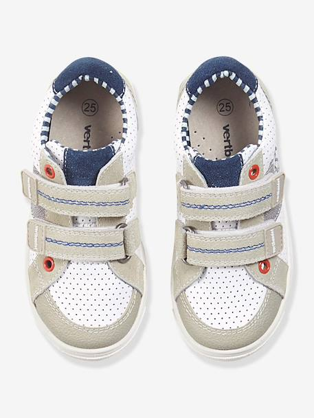 Boys Leather Trainers, Designed For Autonomy White - vertbaudet enfant