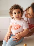 Tee-shirt fille Family team collection capsule vertbaudet et Studio Jonesie en coton bio  - vertbaudet enfant