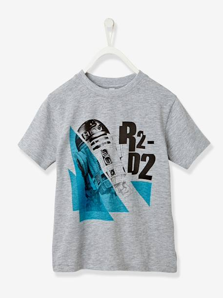 Boys' Star Wars® R2D2 T-Shirt GREY LIGHT MIXED COLOR - vertbaudet enfant