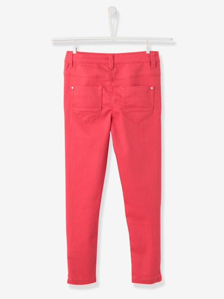 MEDIUM Fit - Girls' Skinny Trousers Aqua green+BLUE DARK SOLID+Pink+Printed blue+RED DARK SOLID - vertbaudet enfant