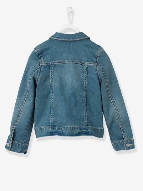 Veste fille en denim stretch STONE - vertbaudet enfant