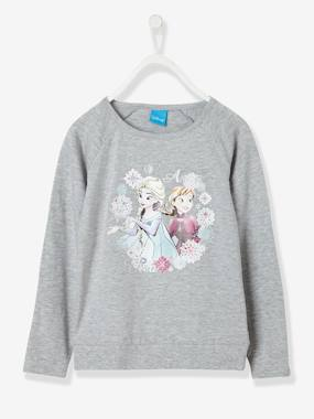 Girls-Tops-T-Shirts-Girls' Long-Sleeved T-Shirt with Glitter, Frozen® Theme