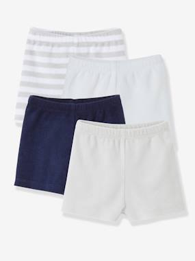 Basics and Multipacks-Pack of 4 Baby Boys Terry Swim Shorts