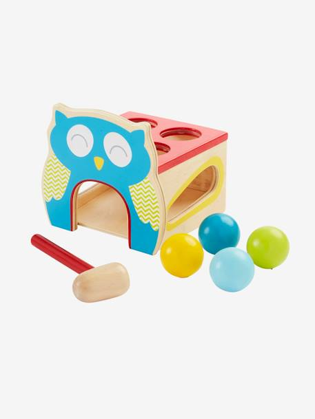 Wooden Knock-out Owl Game Muticolour - vertbaudet enfant