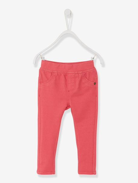 Baby Girls' Treggings Denim brut+GREEN DARK SOLID+Grey+Pink+WHITE LIGHT ALL OVER PRINTED - vertbaudet enfant