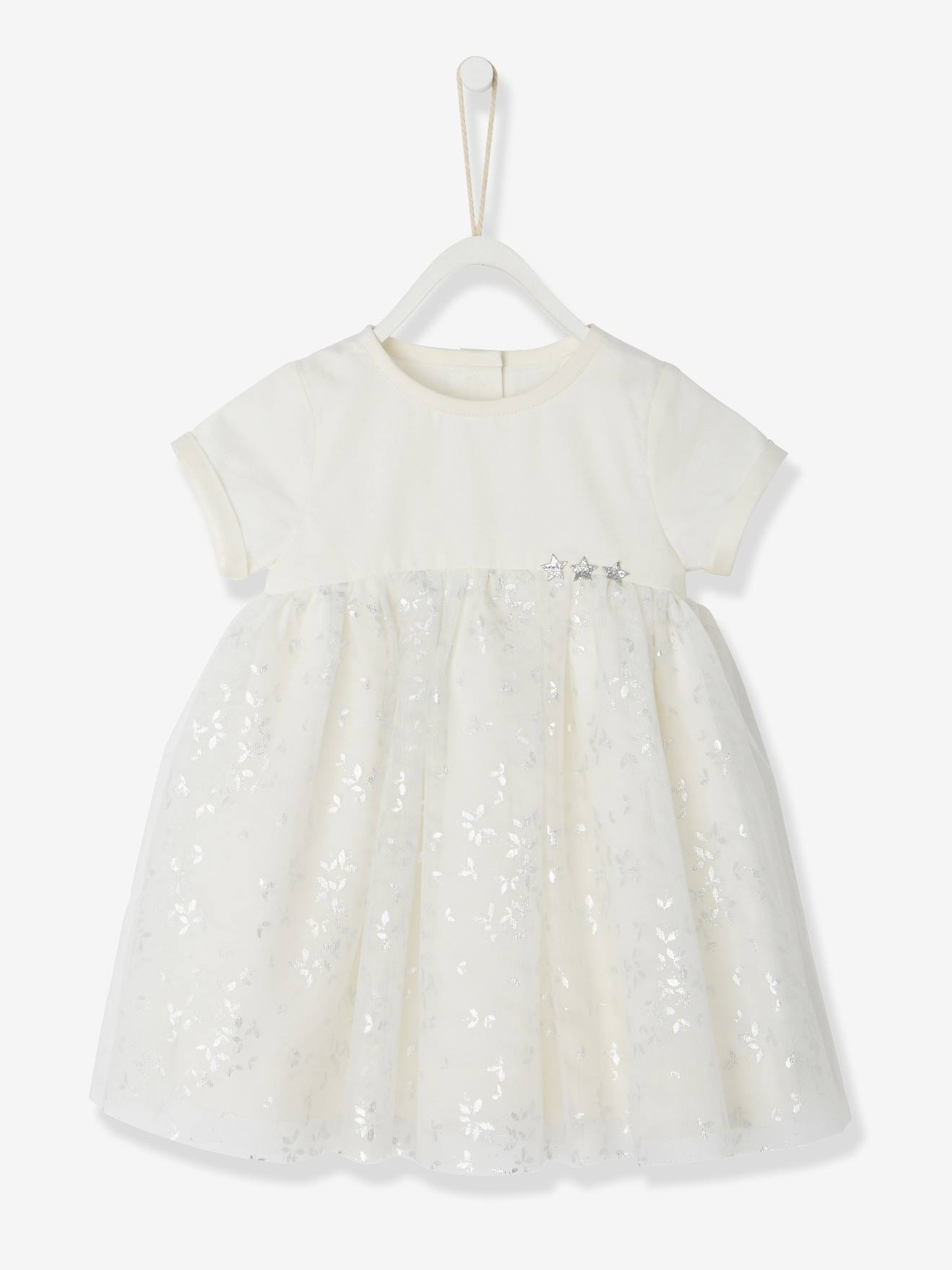 Baby Girls Silvery Tulle Dress Baby