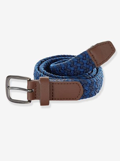 Braided Belt Grey-blue stripe - vertbaudet enfant