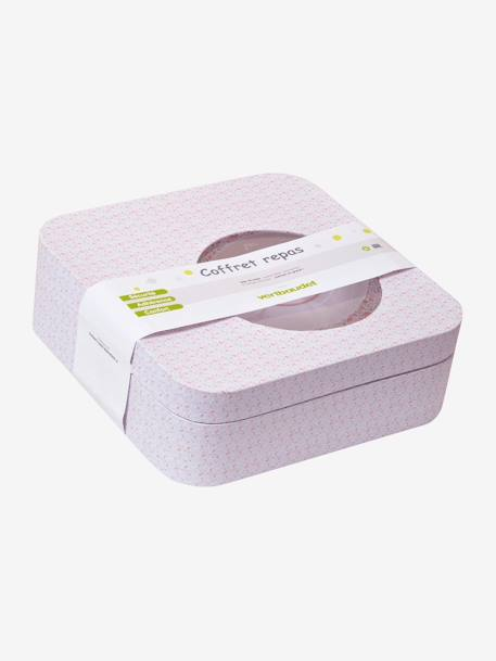VERTBAUDET 4-Piece BPA-Free Meal Set Pale pink+YELLOW LIGHT ALL OVER PRINTED - vertbaudet enfant
