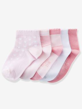 Girls-Underwear-Pack of 5 Pairs of Trainer Socks