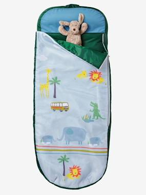 Bedding-Child's Bedding-Sleeping Bags & Ready Beds-Readybed® Sleeping Bag with Integrated Mattress, Jungle Theme