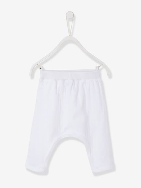 Baby Harem-Style Openwork Knit Bottoms, Organic Collection GREY LIGHT SOLID+White - vertbaudet enfant
