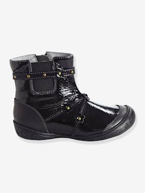 Dress myself-Shoes-Girls' Leather Boots, Designed for Autonomy