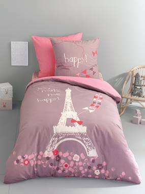 Vertbaudet Sale-Duvet Cover & Pillowcase Set, A Night in Paris Theme