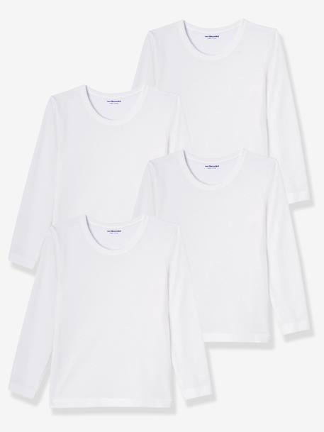 Pack of 4 Boys' T-Shirts White - vertbaudet enfant