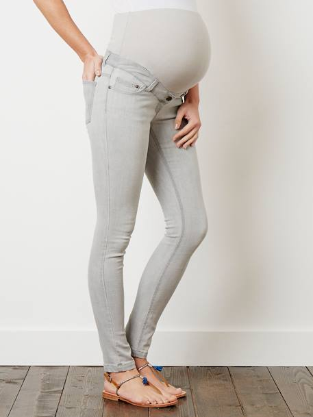 Jean slim stretch de grossesse entrejambe 78 DENIM BLACK+DENIM BRUT+DENIM GRIS CLAIR+DENIM GRIS CLAIR+Denim stone - vertbaudet enfant