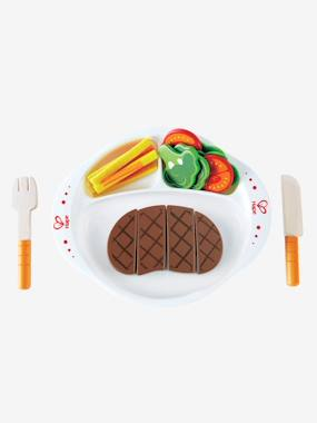 christmas-22-piece Wooden Steak Dinner Set