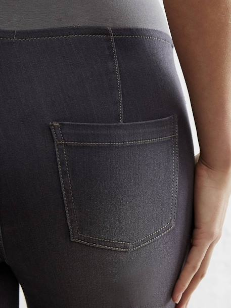 Maternity Stretch Fabric Treggings - Inside Leg 32' Black+GREY DARK SOLID - vertbaudet enfant